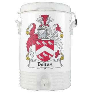 Escudo de la familia de Belton Enfriador De Bebida Igloo