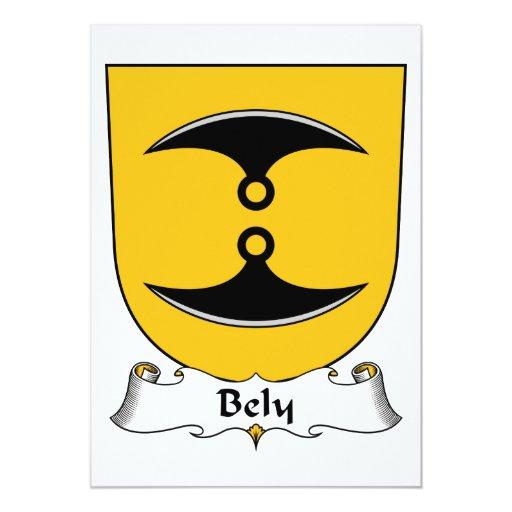 """Escudo de la familia de Bely Invitación 5"""" X 7"""""""