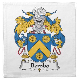 Escudo de la familia de Bembo Servilletas Imprimidas
