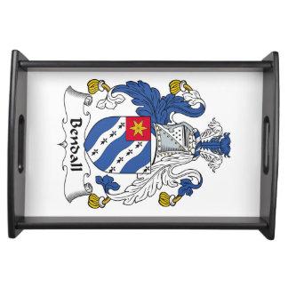 Escudo de la familia de Bendall Bandejas
