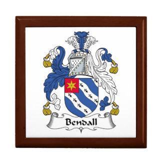 Escudo de la familia de Bendall Caja De Joyas