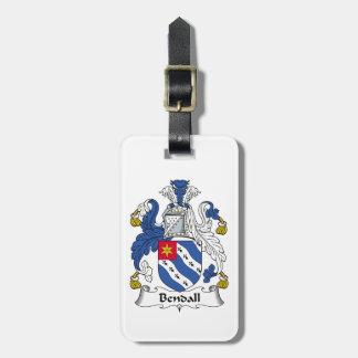 Escudo de la familia de Bendall Etiqueta Para Maleta
