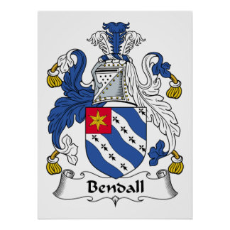 Escudo de la familia de Bendall Impresiones