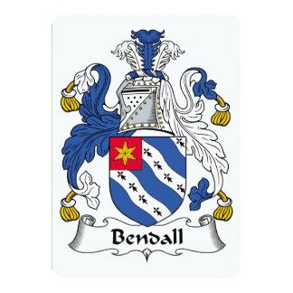 """Escudo de la familia de Bendall Invitación 5"""" X 7"""""""