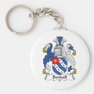 Escudo de la familia de Bendall Llaveros Personalizados