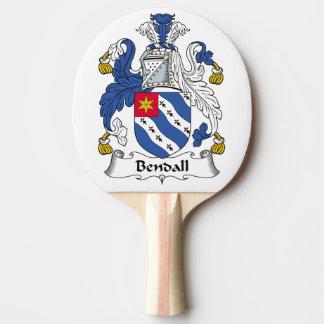 Escudo de la familia de Bendall Pala De Tenis De Mesa