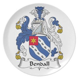 Escudo de la familia de Bendall Platos