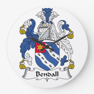 Escudo de la familia de Bendall Relojes De Pared
