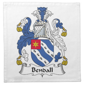 Escudo de la familia de Bendall Servilletas