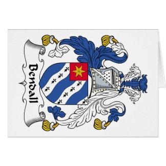 Escudo de la familia de Bendall Tarjetas