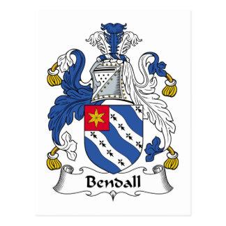 Escudo de la familia de Bendall Tarjetas Postales