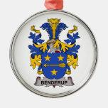 Escudo de la familia de Benderup Ornamento De Navidad