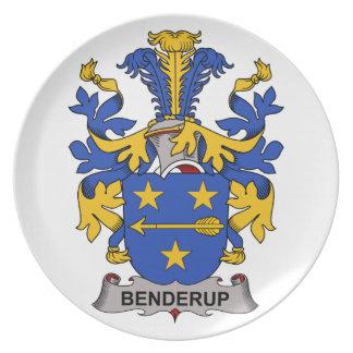Escudo de la familia de Benderup Platos De Comidas