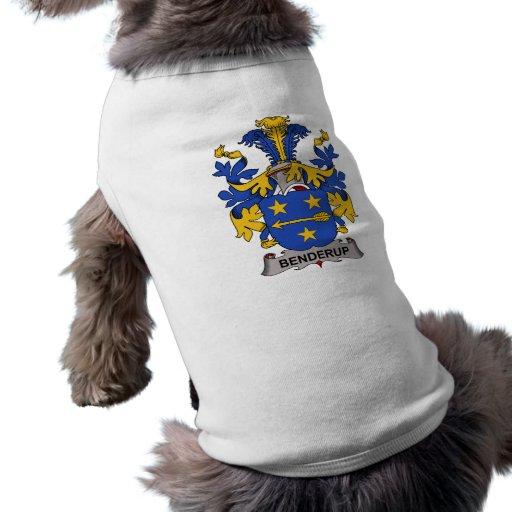 Escudo de la familia de Benderup Playera Sin Mangas Para Perro