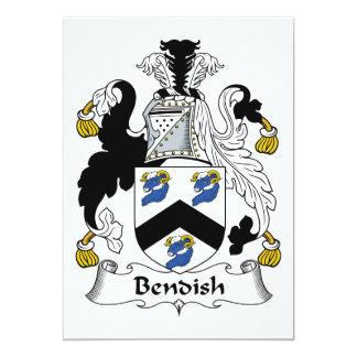 """Escudo de la familia de Bendish Invitación 5"""" X 7"""""""