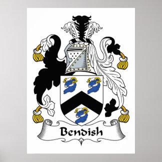 Escudo de la familia de Bendish Póster