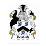 Escudo de la familia de Bendish Tarjeta Postal