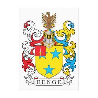 Escudo de la familia de Benge Impresión En Lienzo Estirada