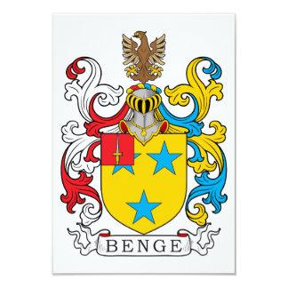 """Escudo de la familia de Benge Invitación 3.5"""" X 5"""""""