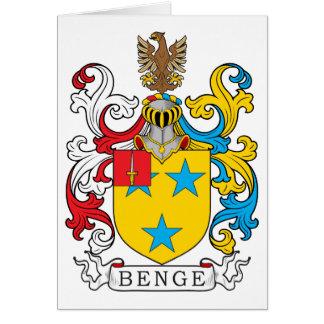 Escudo de la familia de Benge Tarjeta De Felicitación