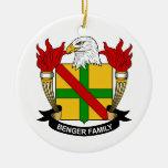 Escudo de la familia de Benger Ornamento De Navidad