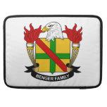 Escudo de la familia de Benger Funda Para Macbooks