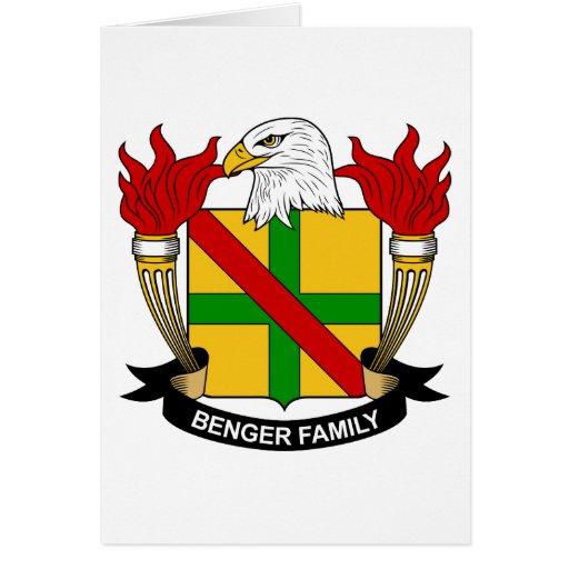 Escudo de la familia de Benger Tarjeton