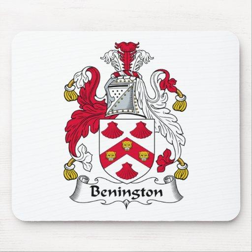 Escudo de la familia de Benington Alfombrilla De Raton