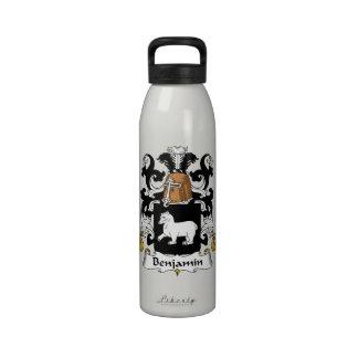 Escudo de la familia de Benjamin Botellas De Agua Reutilizables