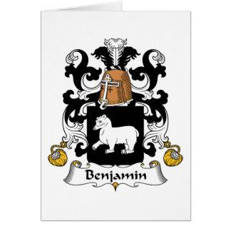 Escudo de la familia de Benjamin Felicitacion