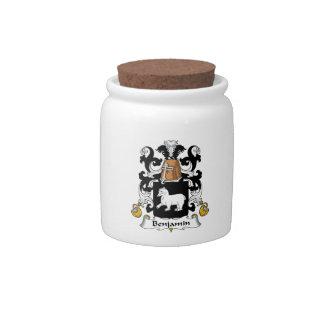 Escudo de la familia de Benjamin Platos Para Caramelos