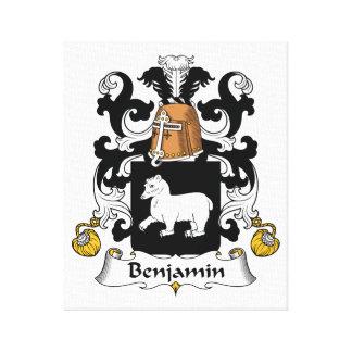 Escudo de la familia de Benjamin Impresiones En Lona