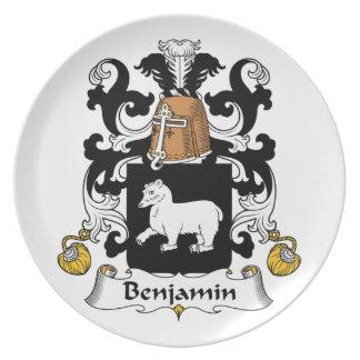 Escudo de la familia de Benjamin Plato Para Fiesta