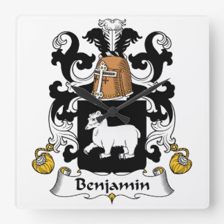 Escudo de la familia de Benjamin Reloj Cuadrado