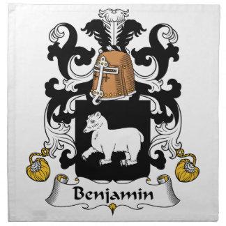 Escudo de la familia de Benjamin Servilletas