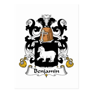Escudo de la familia de Benjamin Tarjetas Postales