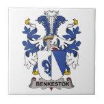 Escudo de la familia de Benkestok Tejas Cerámicas