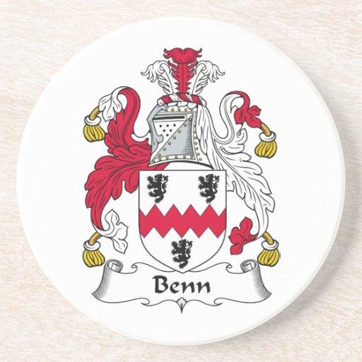 Escudo de la familia de Benn Posavasos Para Bebidas