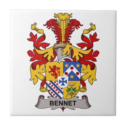 Escudo de la familia de Bennet Azulejo Cuadrado Pequeño