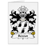 Escudo de la familia de Bennet Tarjeta