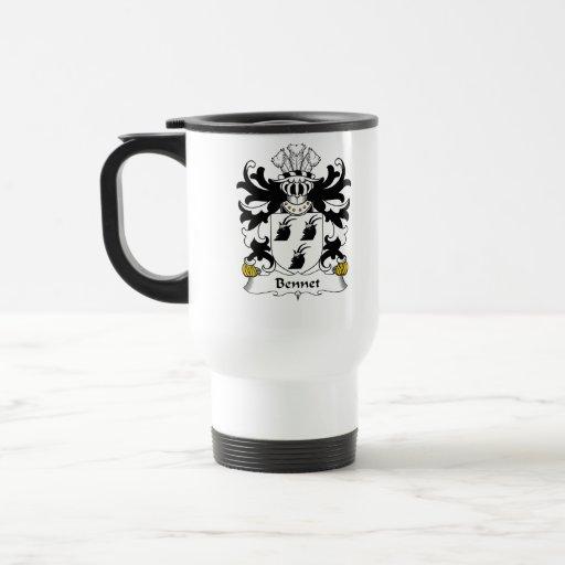 Escudo de la familia de Bennet Tazas De Café