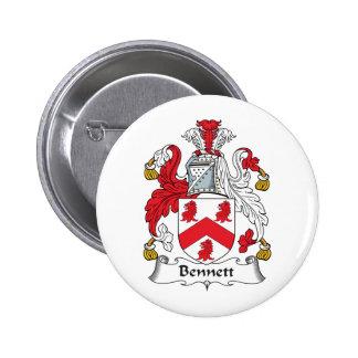 Escudo de la familia de Bennett Pin Redondo 5 Cm