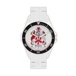 Escudo de la familia de Bennett Reloj De Mano