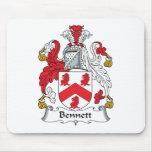 Escudo de la familia de Bennett Alfombrillas De Ratón