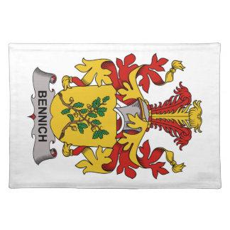 Escudo de la familia de Bennich Mantel Individual