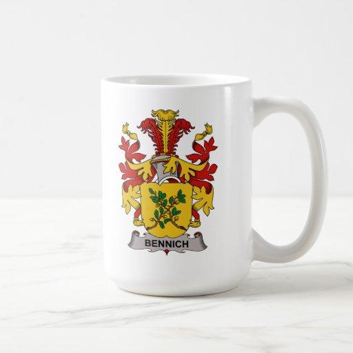 Escudo de la familia de Bennich Taza Básica Blanca