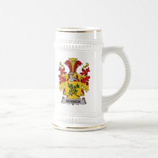 Escudo de la familia de Bennich Taza De Café