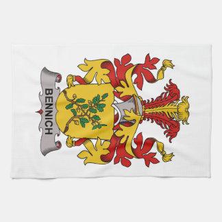 Escudo de la familia de Bennich Toalla De Cocina