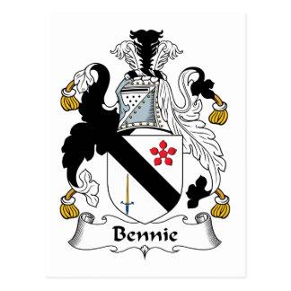 Escudo de la familia de Bennie Tarjetas Postales