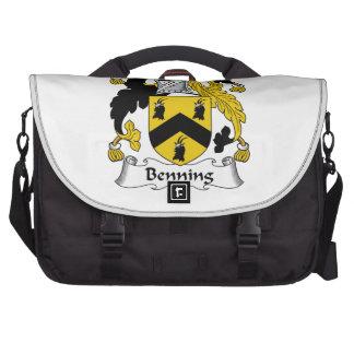 Escudo de la familia de Benning Bolsas Para Portátil